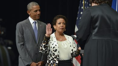 Photo of Lynch's Installation as AG Overshadowed by Charleston Tragedy