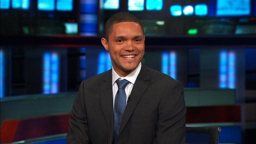 "This image provided by Comedy Central shows Trevor Noah, the new host of Comedy Central's ""The Daily Show,"" who starts Sept. 28, 2015. (Comedy Central via AP)"