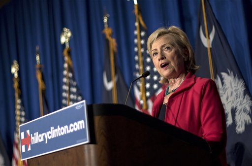 "In this July 23, 2015, photo, Democratic presidential hopeful Hillary Rodham Clinton speaks at a campaign event in Columbia, S.C. In her second pass at the presidency, Clinton has made discussing ""systemic racism"" a hallmark of her campaign as she looks to connect with the black voters who helped propel President Barack Obama to the White House. At multiple campaign stops, she bemoaned ""mass incarceration,"" an uneven economy, increasingly segregated public schools, and poisoned relationships between police and the black community. She praised South Carolina leaders, including Republican Gov. Nikki Haley, for removing the Confederate battle from statehouse grounds after a white gunman's June massacre of nine churchgoers at a historic black congregation in Charleston. But she warned that the act is symbolic. (AP Photo/Stephen B. Morton)"