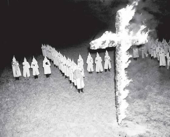 Ku Klux Klan rally in Tampa, Fla., Jan. 30, 1939. (AP Photo)