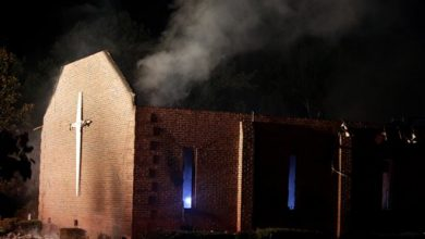 Photo of Church Fires Not Usually Arson; Weather Found as Cause in SC
