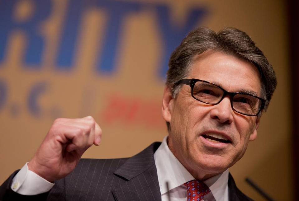 Republican presidential candidate, former Texas Gov. Rick Perry, speaks at the Road to Majority 2015 convention in Washington, Saturday, June 20, 2015. (Manuel Balce Ceneta/AP Photo)