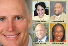 Photo of Black State Legislators Hacked by Scott's Veto Pen
