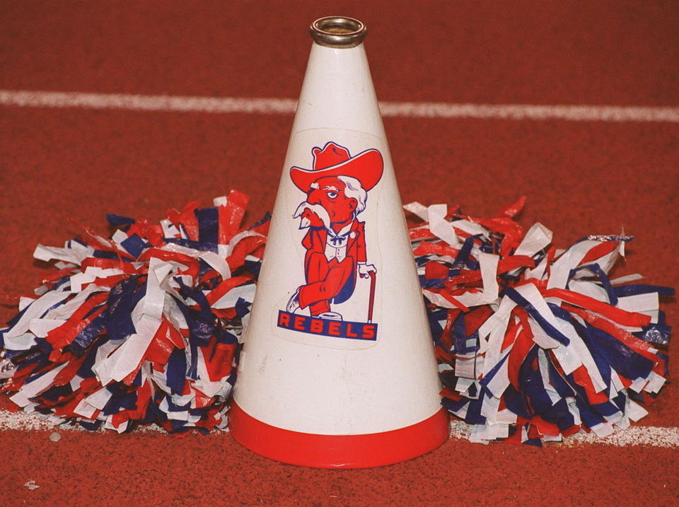 "Vestavia Hills High School mascot ""The Rebel Man"""