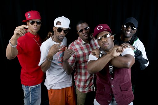"In this June 24, 2014 file photo, members of the 80s Boston boy band ""New Edition"", from left, Ralph Tresvant, Johnny Gill, Ronnie DeVoe, Michael Bivins and Ricky Bell pose in New York. BET and Jesse Collins Entertainment announced Monday, Aug. 10, 2015, that they are producing a still-untitled three-night miniseries chronicling New Edition.  Tresvant, Gill, DeVoe, Blivins and Bell will serve as consultants and executive producers on the project. (Photo by Amy Sussman/Invision/AP, File)"