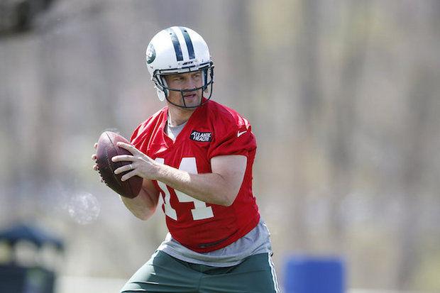 New York Jets quarterback Ryan Fitzpatrick (AP Photo/ Julio Cortez)