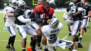 Photo of Panthers QB Newton Doesn't Regret Role in Scuffle at Camp