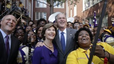Photo of Bush Hails School Reforms in Katrina Anniversary Visit