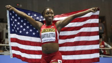 Photo of Tianna Bartoletta Wins Long Jump Gold Medal 10 Years After First World Title