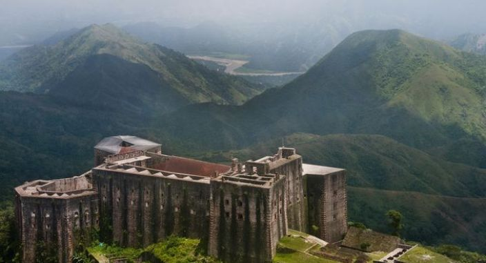 After their successful rebellion, the liberated slaves of Haiti were inspired to create the most impressive stone fortress in the Caribbean, the Citadelle Laferrière, which commands a mountaintop position on Haiti's northern coast, 3,000 feet above sea level. (Rafaelle Castera, Haiti Office of Tourism)