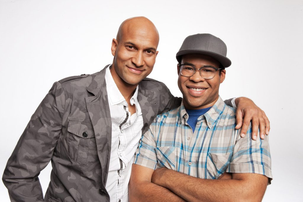 "This undated image released by Comedy Central shows Keegan-Michael Key, left, and Jordan Peele from the sketch comedy series ""Key & Peele."" (AP Photo/Comedy Central, Ian White)"
