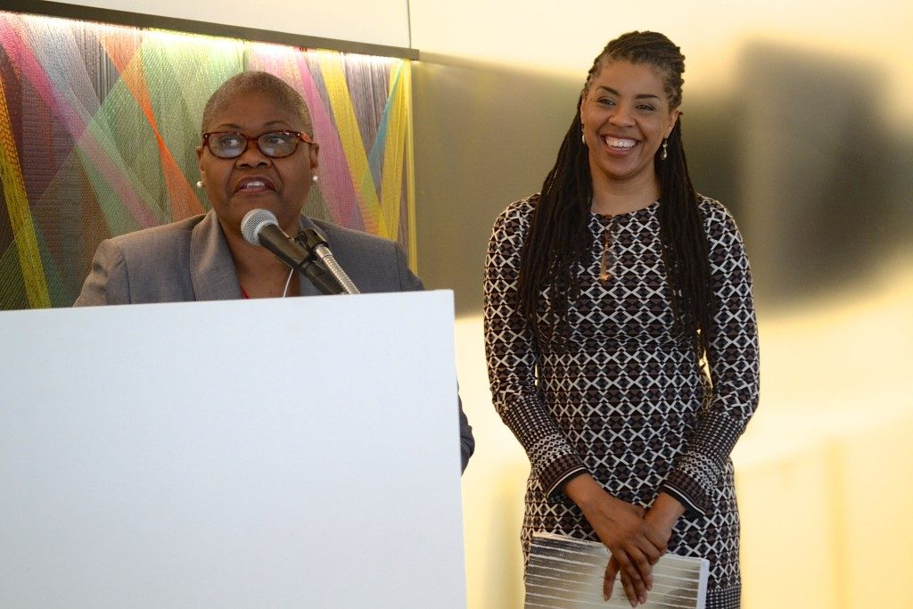 Black Women's Roundtable convener, Melanie Campbell (left) and member, Avis Jones-DeWeever. (Jazelle Hunt/NNPA News Service)