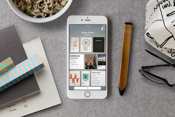 FiftyThree's new Paper for iPhone app is part sketching tool, part note-taker. (Courtesy of FiftyThree)