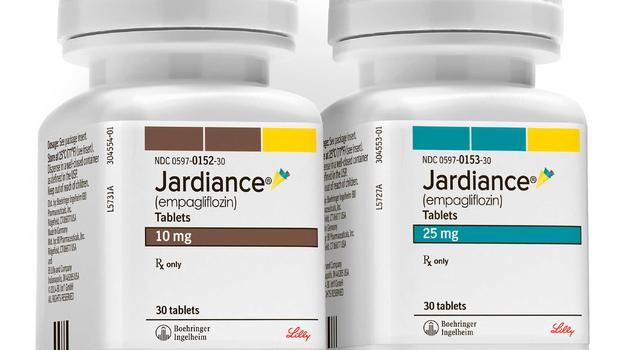 This product image provided by Boehringer Ingelheim Pharmaceuticals shows bottles of Jardiance, a daily pill for Type 2 diabetes. (Boehringer Ingelheim Pharmaceuticals via AP)