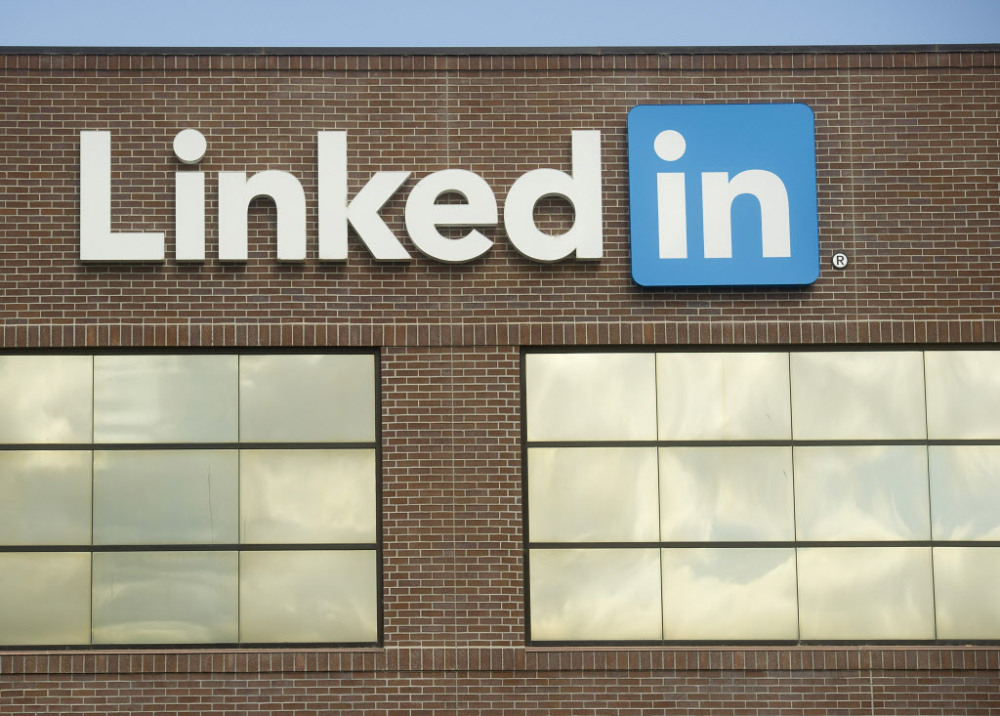 This Tuesday, May 7, 2013 file photo shows LinkedIn's Mountain View, Calif., headquarters. LinkedIn reports quarterly financial results on Thursday, Oct. 30, 2014. (AP Photo/Noah Berger, File)