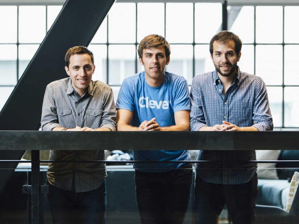 The founders of Clever met at Harvard. From left: Tyler Bosmeny, CEO; Dan Carroll, chief product officer; Rafael Garcia, chief technology officer. (Hanh Nguyen/Clever)