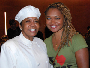 Dr. Ava Muhammad, National Spokesperson for Minister Louis Farrakhan and the Nation of Islam with Erika Totten of Black Lives Matter. (Courtesy of The Final Call)