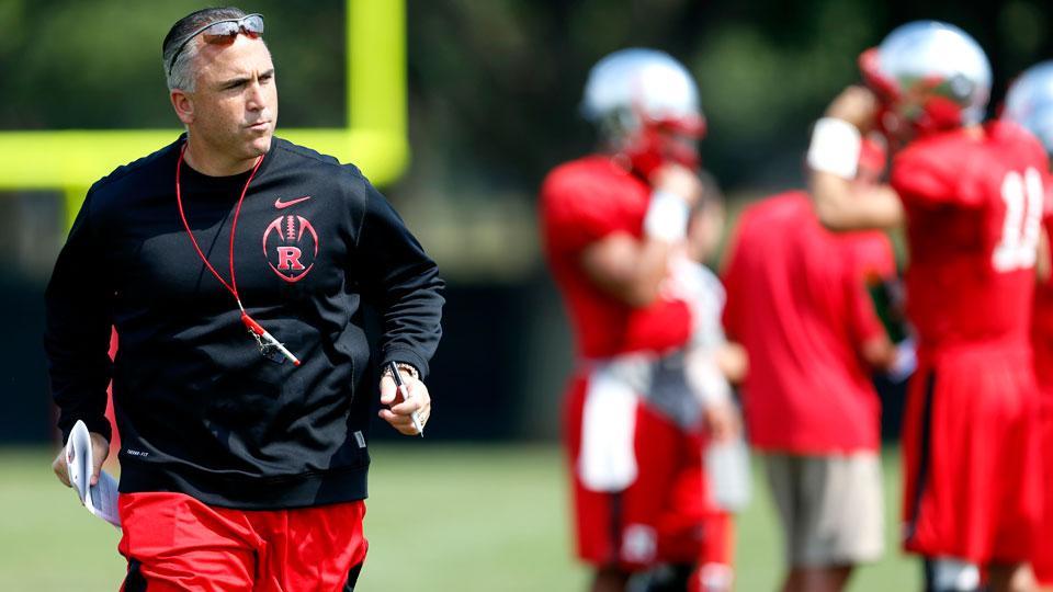 Rutgers football coach, Kyle Flood (AP Photo/Julio Cortez)