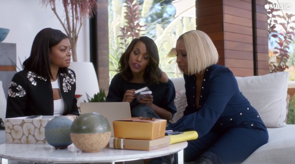 Taraji P. Henson, Kerry Washington, and Mary J. Blige star in an Apple Music commercial directed by Ava Duvernay.