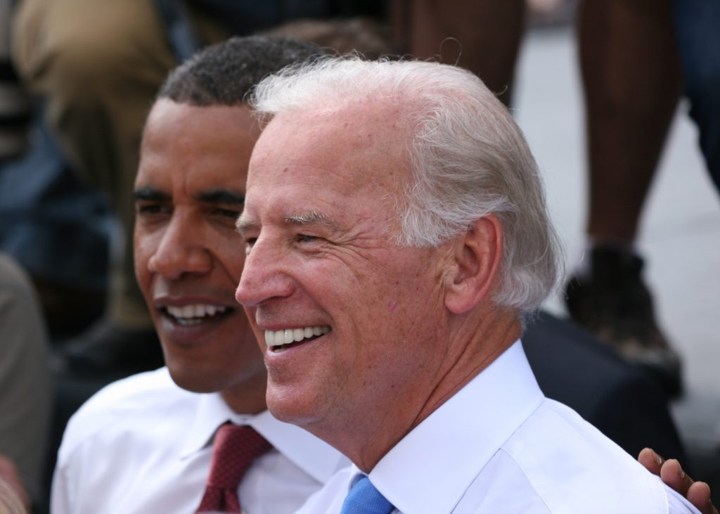 Vice President Joseph Biden recently announced that he will not run for president. Photo taken during a 2008 campaign event in Springfield, Illinois. (Daniel Schwen/Wikimedia Commons)