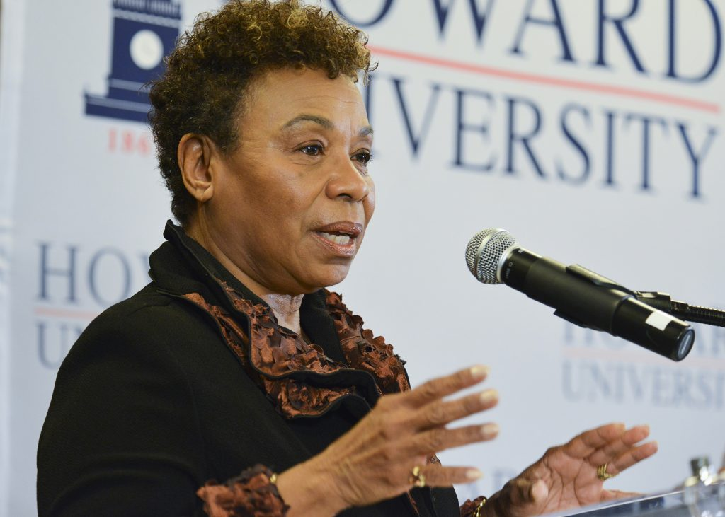 Rep. Barbara Lee (D-Calif.) speaks during a panel discussion on the effects of sequestration at Howard University in Washington, D.C. (Freddie Allen/AMG)