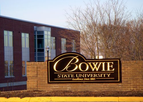 The main gateway of Bowie State University (Courtesy of M. Chambers via Wikimedia Commons)