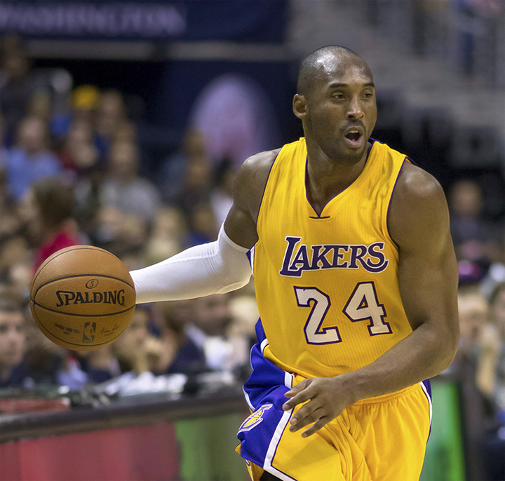 Five-time NBA Champion Kobe Bryant recently announced that he plans to retire at the end of the 2015-2016 season. Photo taken during the Los Angeles Lakers vs. Washington Wizards on December 3, 2014. (Keith Allison/Creative Commons)