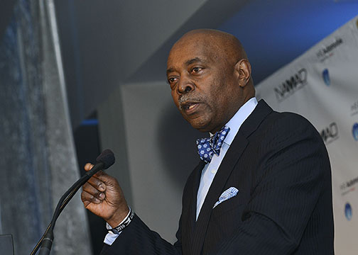Perry Watson, the chairman of NAMAD, talks about the auto industry during the inaugural Diversity Volume Leadership Awards in Detroit, Mich. (Freddie Allen/AMG/NNPA News Wire Service)