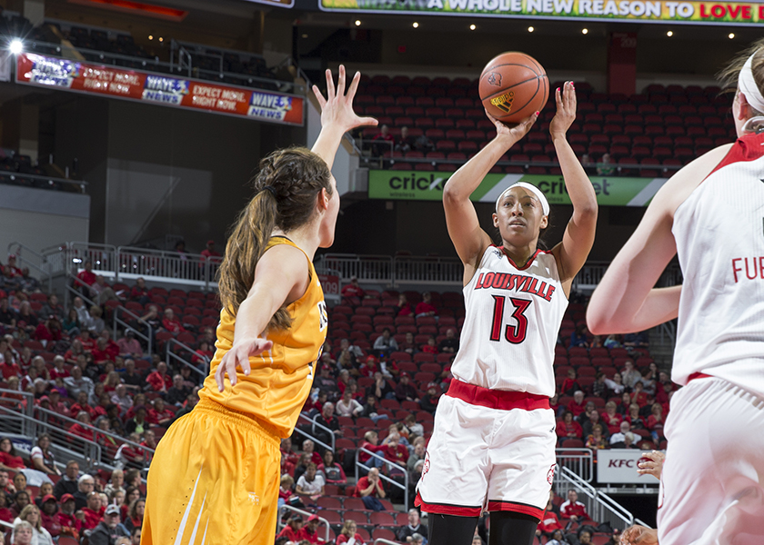 University of Louisville's No. 13 Cortnee Walton was selected to the 2016 Allstate Women's Basketball Coaches Association Good Works Team. Walton is the only Cardinal to play and start in each game and second on the team in rebounding (7.7 RPG). (GoCards.com)