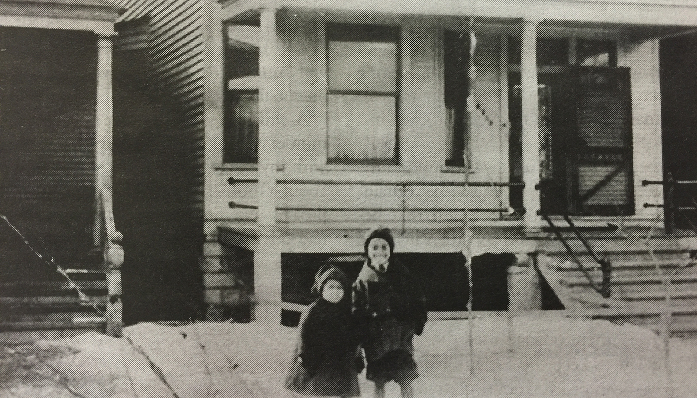 Ethel Payne with her brother Lemuel in front of the family's home in Chicago's Englewood neighborhood, circa 1915. (HarperCollins)
