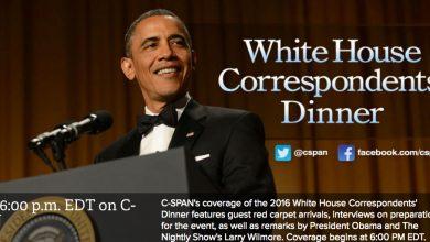 Photo of LIVE: President Obama's Last White House Correspondents' Dinner