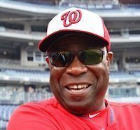 Dusty Baker, the manager for the Washington Nationals, is the only African-American manager in Major League Baseball. Photo by Travis Riddick
