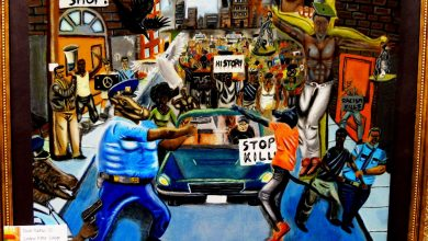 Photo of Congressional Art Contest Winner Depicts Police Brutality and Protests