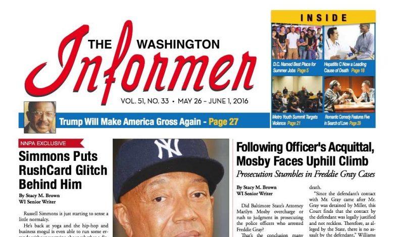 Washington Informer, May 26, 2016