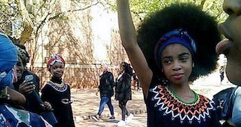 Photo of S. African Student Protest Against Systemic Racism Goes Viral