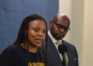 "April Goggans, who represents the Black Lives Matter movement in Washington, D.C., said that the narrative about the killings of Black men and women at the hands of those sworn to protect them is still being controlled by mainstream media. ""As much as we want to protect Black lives, we also have to protect the mediums and ways in which the stories that are true about Black lives are spread and that is through the Black Press,"" said Goggans."