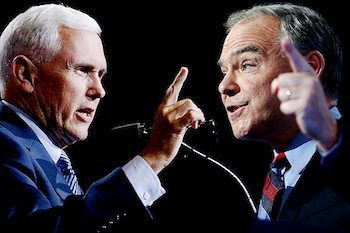 Photo of Vice Presidential Candidates Clash in Debate