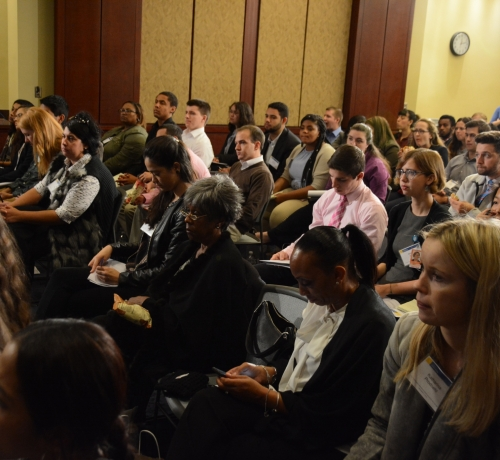 Students, staff, and a few members of Congress attend the congressional briefing on Gun Violence and Trauma on Monday, Nov. 1 in Northeast. /Photo by Roy Lewis