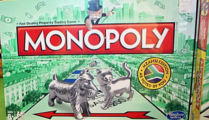 A display of the latest South African version of the world-famous Monopoly board game /D. Taylor for VOA