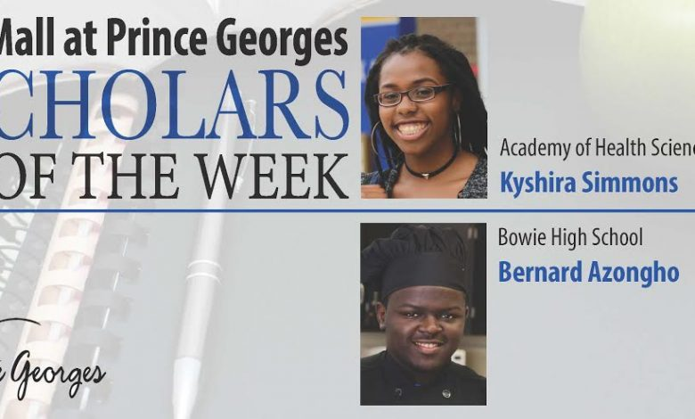 Kyshira Simmons and Bernard Azingho were named Scholars of the Week. / Courtesy of PGCPS