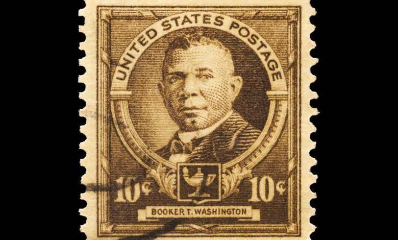 A stamp printed in the United States in 1940 shows educator Booker T. Washington. /Photo iStock