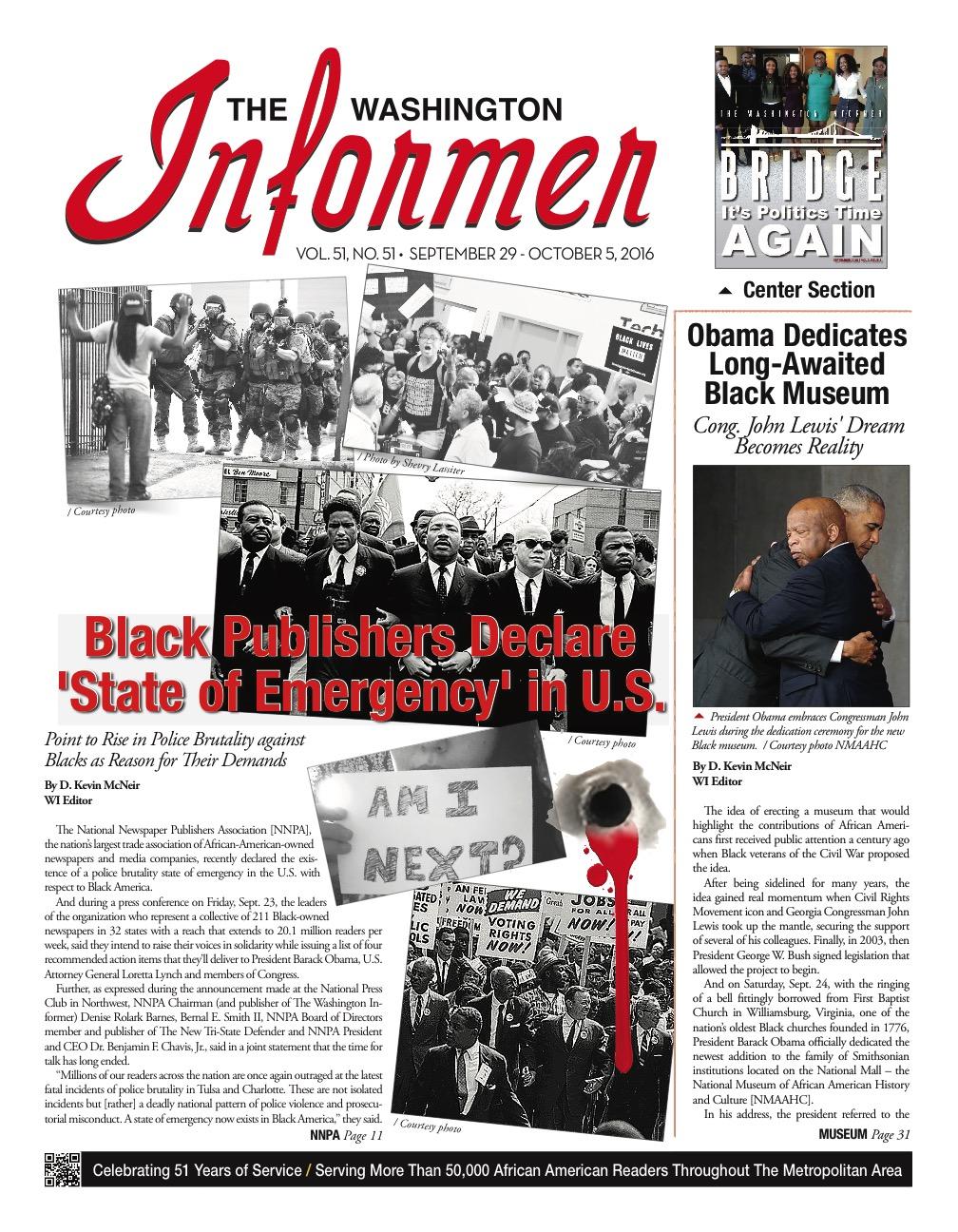 Photo of Informer Issue September 29, 2016