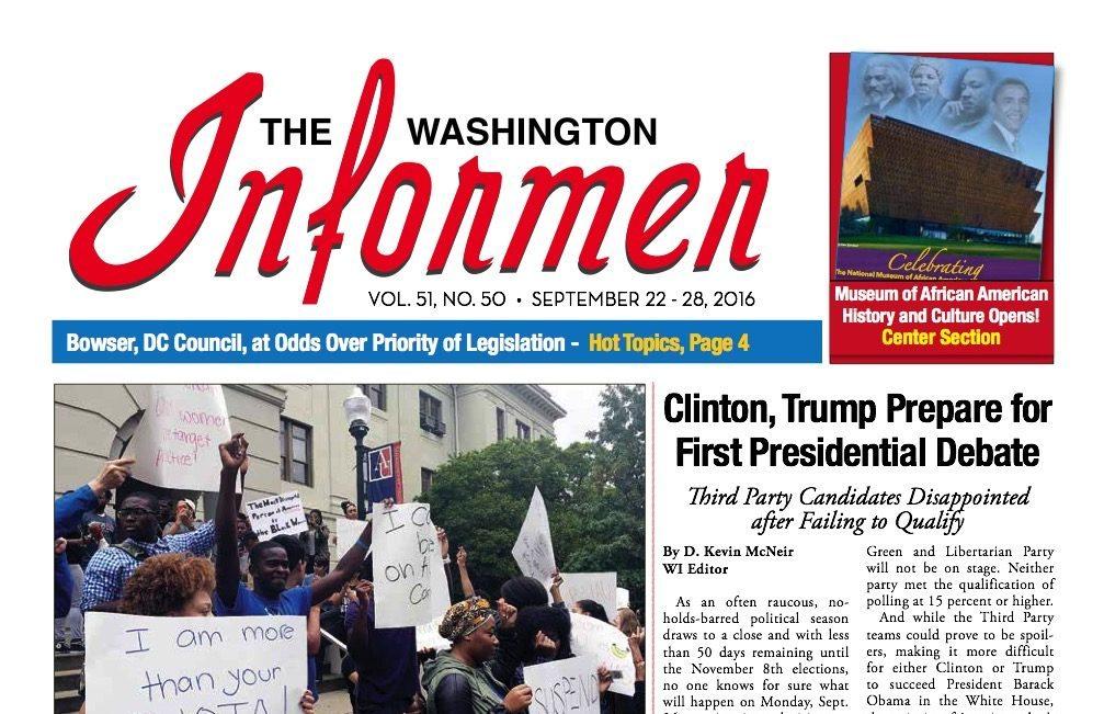 Washington Informer, September 22, 2016