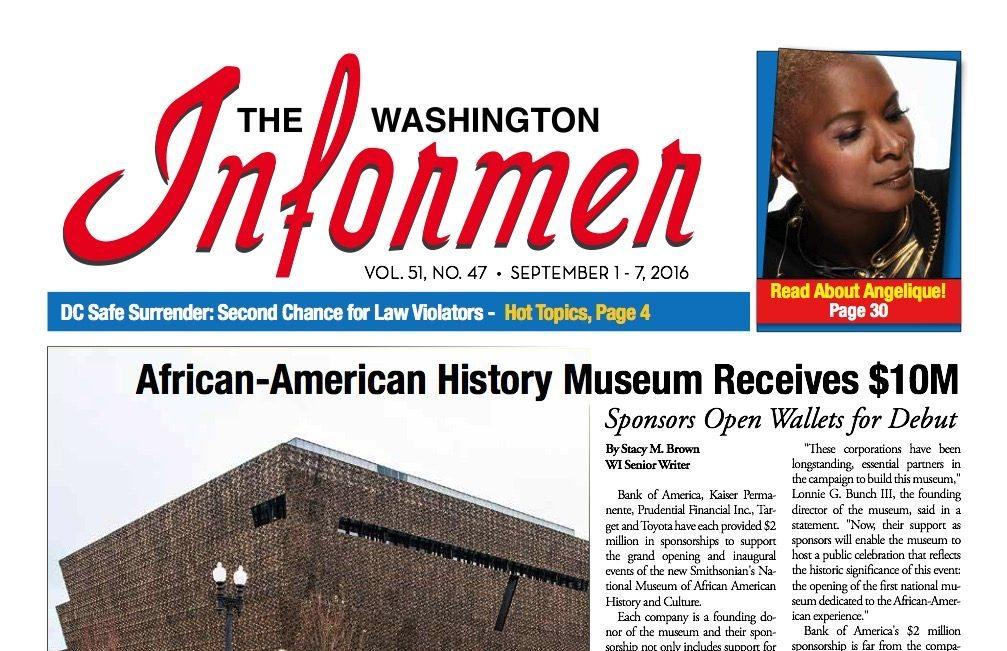 Photo of Informer Issue September 1, 2016