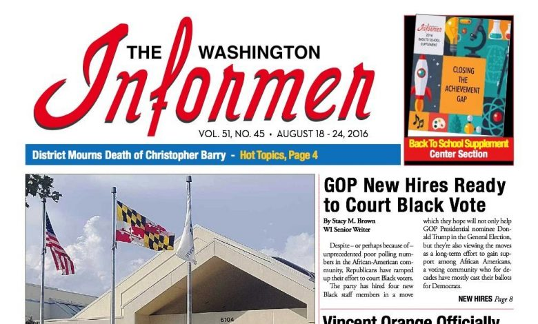 Washington Informer, August 18, 2016