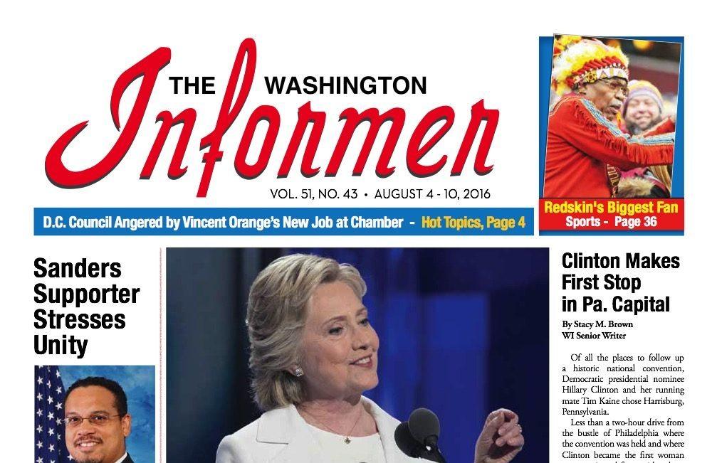 Washington Informer, August 4, 2016
