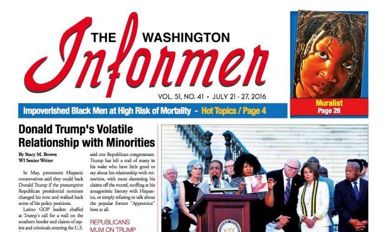 Photo of Washington Informer, July 21, 2016