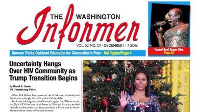 Washington Informer, December 1, 2016