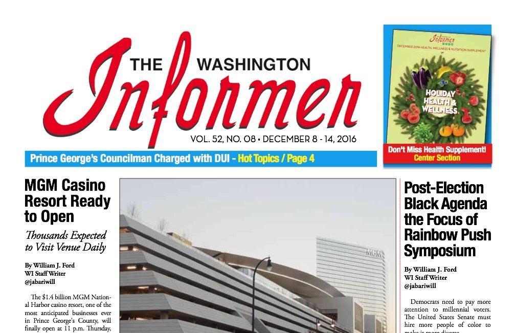 Photo of Informer Issue December 8, 2016