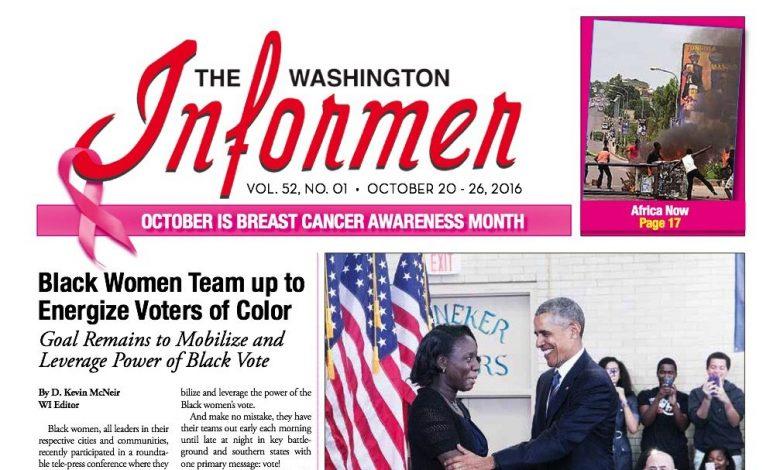 Washington Informer, October 20, 2016